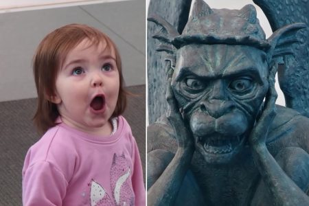Travellers Surprised Seeing Talking Gargoyle at Denver's International Airport